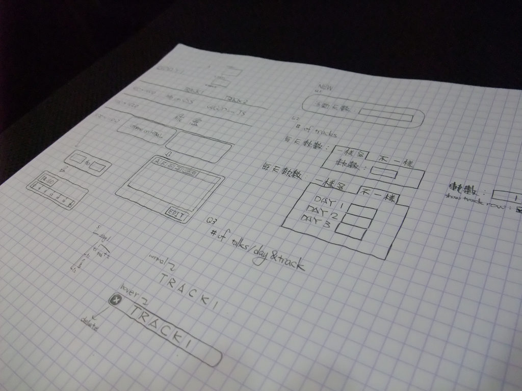 mockups, web development